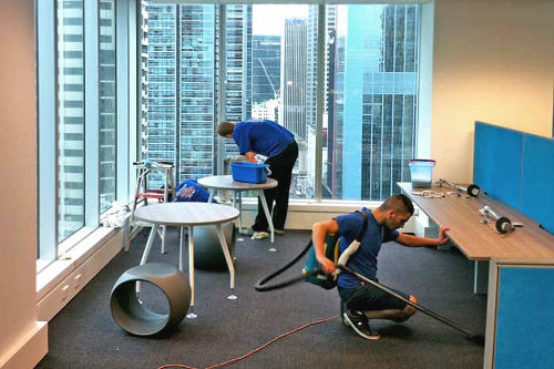 How do commercial cleaning services work?